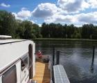 Blick vom freecamper auf Wasserwege