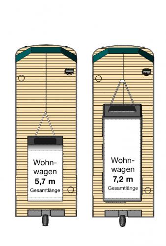 freecamper für kleine Wohnwagen Draufsicht