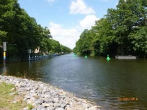 Teil des Langen Trödels Finowkanal vor der Wiedereröffnung am 16.06.2016