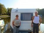 die Saarländer wollten mit freecamper und Wohnwagen aus Templin gar nicht wieder weg