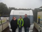 Die Rheinländer waren mit freecamper und Wohnwagen beim netten Hafenmeister in Mirow