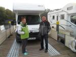 Camping auf dem Wasser mit dem Wohnmobil im Oktober fast alleine auf der Havel unterwegs