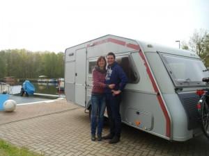 Die Münsterländer waren nicht nur mit dem Wohwagen auf dem freecamper unterwegs, sie haben in Bredereiche auch mit der Feuerwehr in den Mai getanzt