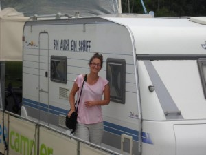 Wohnwagen ist auch ein Boot