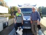 Das Vater-Tochter-Team aus Unterfranken war auf dem freecamper voll gefragt