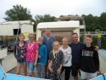 Zwei Familien aus Hessen und Thüringen mit ihren Wohwagen auf dem freecamper und dem Wasser unterwegs auf der Havel und der Seenplatte