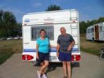 Die Thüringer waren bereits zum zweiten Mal mit ihrem kleinen Wohnwagen auf dem freecamper unterwegs