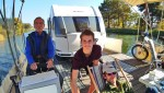 Diese drei Männer machen mit dem freecamper dies Mal Finowkanal, Werbellinsee, Oder, Schiffshebewerk Niederfinow und Werbellinsee unsicher